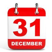 Calendar on white background. 31 December. — Stock Photo