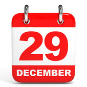 Calendar. 29 December. — Stock Photo