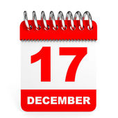 Calendar on white background. 17 December. — Stock Photo