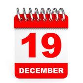 Calendar on white background. 19 December. — Stock Photo