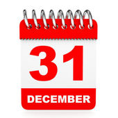 Calendar on white background. 31 December. — Stock Photo