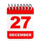 Calendar on white background. 27 December. — Stock Photo