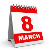 Calendar. 8 March. — Stock Photo