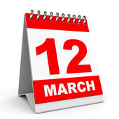 Calendar. 12 March. — Stock Photo