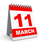 Calendar. 11 March. — Stock Photo