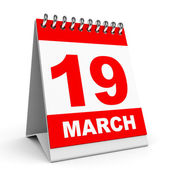 Calendar. 19 March. — Stock Photo