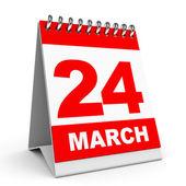 Calendar. 24 March. — Стоковое фото