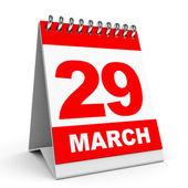 Calendar. 29 March. — Stock Photo