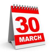 Calendar. 30 March. — Stock Photo