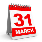 Calendar. 31 March. — Stock Photo