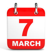 Calendar. 7 March. — Stock Photo