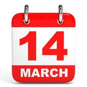 Calendar. 14 March. — Stock Photo