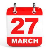 Kalender. 27 maart. — Stockfoto