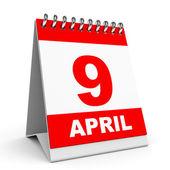 Calendar. 9 April. — Stock Photo