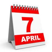 Kalendarz. 7 kwietnia. — Zdjęcie stockowe