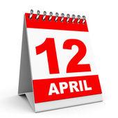 Calendar. 12 April. — Stock Photo