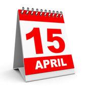 Календарь. 15 апреля. — Стоковое фото