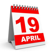 Calendar. 19 April. — Stock Photo