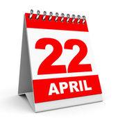 Calendar. 22 April. — Stock Photo