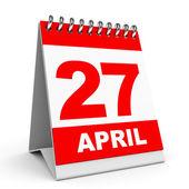 Calendar. 27 April. — Stock Photo