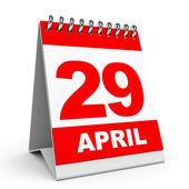 Calendar. 29 April. — Stock Photo
