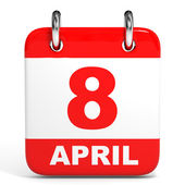 Calendar. 8 April. — Stock Photo