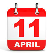 Calendar. 11 April. — Stock Photo