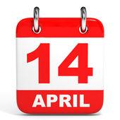 Calendar. 14 April. — Stock Photo
