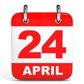 Calendar. 24 April. — Stock Photo