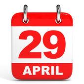 календарь. 29 апреля. — Стоковое фото