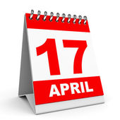Calendar. 17 April. — Stock Photo