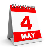 Calendar. 4 May. — Stock Photo