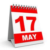 Kalender. 17 maj. — Stockfoto