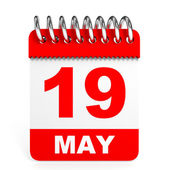 Calendar on white background. 19 May. — Stock Photo