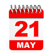 Calendar on white background. 21 May. — Stock Photo
