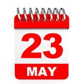 Calendar on white background. 23 May. — Stock Photo