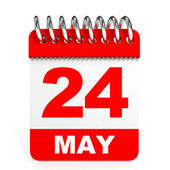 Calendar on white background. 24 May. — Stock Photo