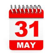 Calendar on white background. 31 May. — Stock Photo