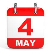 Calendar. 4 May. — Stock Photo
