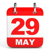 Calendar. 29 May. — Stock Photo