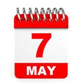 Calendar on white background. 7 May. — Stock Photo