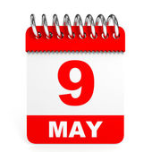 Calendar on white background. 9 May. — Stock Photo