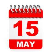 Calendar on white background. 15 May. — Stock Photo