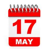 Calendar on white background. 17May. — Stock Photo