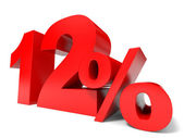 Red twelve percent off. Discount 12 percent. — Stock Photo