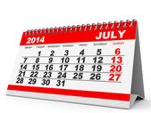 Calendar July 2014. — Stock Photo