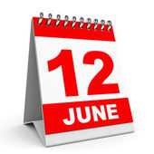Calendar. 12 June. — Stock Photo