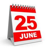 Calendar. 25 June. — Stock Photo