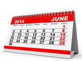 Calendar June 2014. — Stock Photo