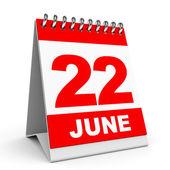 Calendar. 22 June. — Stock Photo
